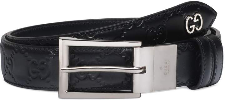 Gucci Reversible Signature Leather Belt