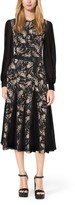 Michael Kors Floral-Embroidered Silk-Chiffon Dress