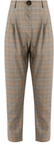 Awake High-rise checked wool trousers