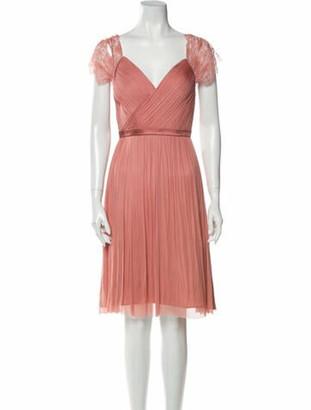 Catherine Deane V-Neck Knee-Length Dress Pink