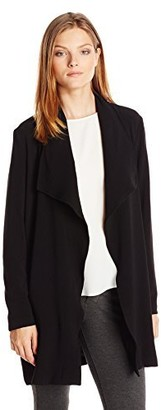 Vero Moda Women's Lusenna 3/4 Sleeve Coat with Tie Waist
