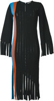 Marco De Vincenzo fringed vertical panel dress - women - Polyester/Viscose - 46