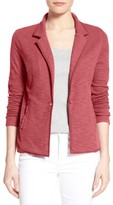 Women's Caslon One-Button Knit Blazer