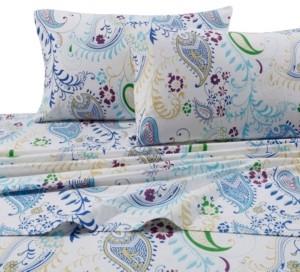 Tribeca Living Paisley Garden Extra Deep Pocket Twin Flannel Sheet Set Bedding