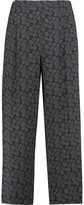 Vince Printed Silk-Blend Crepe Wide-Leg Pants