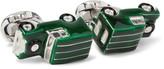 Deakin & Francis 4x4 Enamelled Sterling Silver Cufflinks