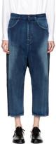 Y's Blue U-Gusset Drop Jeans