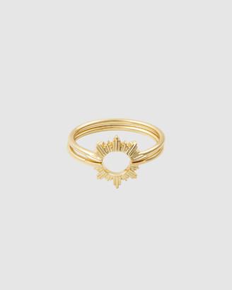 Wanderlust + Co Sunseeker Gold Ring Set