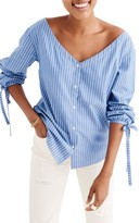 Madewell Women's Morningview Stripe Tie Sleeve Shirt