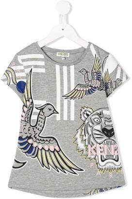 Kenzo Kids bird-print T-shirt