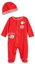 Little Me Infant Boy's Santa's Here Footie & Hat Set