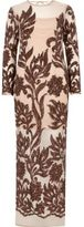 River Island Womens Beige long sleeve embellished maxi dress