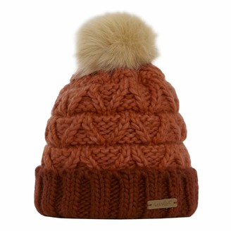 Weird Fish Livvy Knit Bobble Hat Chilli Red Size ONE