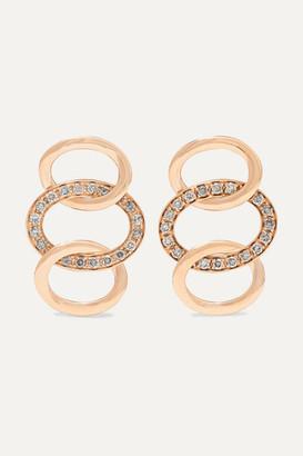 Pomellato Brera 18-karat Rose Gold Diamond Earrings