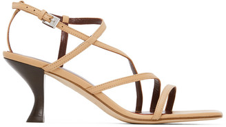 STAUD Beige Nappa Gita Heeled Sandals