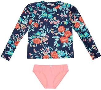 Bonpoint Blum floral rashguard swimsuit set