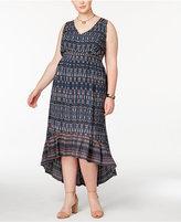 Jessica Simpson Trendy Plus Size Cotton Drawstring Dress