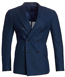 Saks Fifth Avenue Double Breasted Jersey Knit Jacket