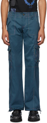 Georges Wendell SSENSE Exclusive Blue Twill Cargo Pants