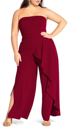 City Chic Attraction Strapless Jumpsuit