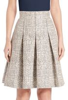 Akris Punto Cross-Stitch Jacquard A-Line Skirt