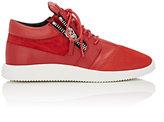 Giuseppe Zanotti Men's Double-Zip Running-Inspired Sneakers-Red