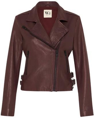 West 14th New Yorker Motor Jacket - Shiraz Leather