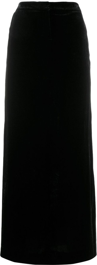 Emilio Pucci Pre-Owned 1990's Velvet Effect Maxi Skirt