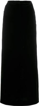 Emilio Pucci Pre Owned 1990's Velvet Effect Maxi Skirt