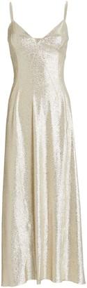 Paco Rabanne Lurex Jersey Midi Slip Dress