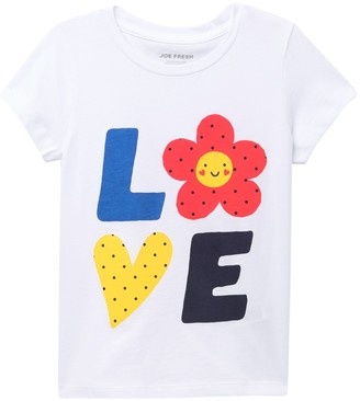 Joe Fresh Love Short Sleeve T-Shirt (Toddler & Little Girls)