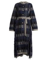 BARRIE Tweed Tartan cashmere cardigan