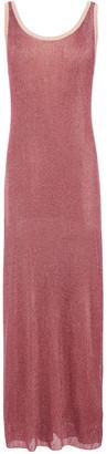 M Missoni Tie-back Metallic Ribbed-knit Maxi Dress