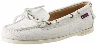 Sebago Women's Nina Scaly W 71113WW Boat Shoes (White 911) 2.5 UK