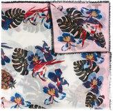 Valentino Garavani Valentino floral print scarf - women - Silk/Cashmere/Wool - One Size