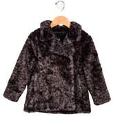 Lili Gaufrette Girls' Faux Fur Printed Coat