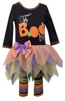 Bonnie Baby Girls' 2-Piece Fa-Boo-Lous Halloween Dress and Legging Set in Black