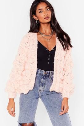 Nasty Gal Womens I Like Big Bobbles Chunky Knit Cardigan - Pink