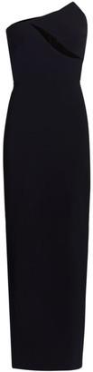 Brandon Maxwell Strapless Cutout Column Gown