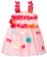 Baby Sara Flower Detail Puff Dress (Baby & Toddler Girls)