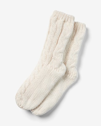 Express Fleece Lined Cable Knit Socks