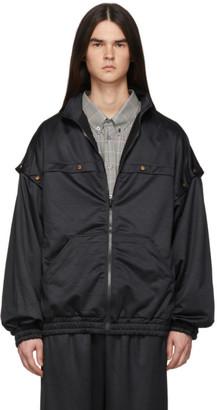 Gucci Black Convertible Snap Track Jacket