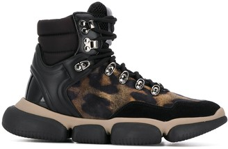 Moncler Brianna leopard-print high-top sneakers