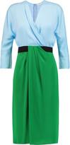 Vionnet Color-block stretch-silk dress