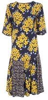 Suno Silk Floral Print Dress