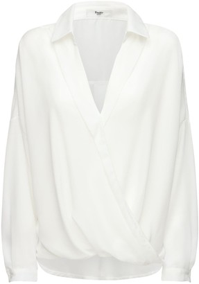 Noemie Satin Wrap Shirt