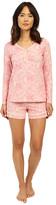 BedHead Long Sleeve Sweetheart Shorts Pajama Set