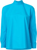 DELPOZO funnel-neck knitted top - women - Cotton - 36