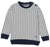 Emma och Malena Navy and Off White Evert Knitted