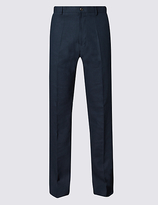 M&S Collection Big & Tall Linen Rich Regular Fit Trouser